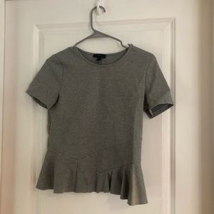 Gray J Crew Peplum Top